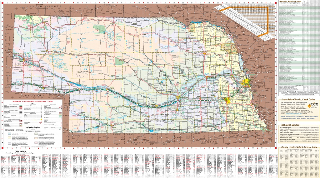 Large Detailed Tourist Map Of Nebraska With Cities And Towns - Printable Road Map Of Nebraska