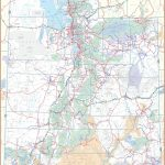 Large Detailed Tourist Map Of Utah With Cities And Towns   Printable Map Of Utah