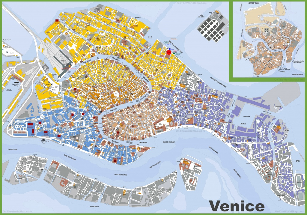 Large Detailed Tourist Map Of Venice - Street Map Of Venice Italy Printable