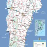 Large Detailed Tourist Map Of Vermont With Cities And Towns   Printable Map Of Vermont