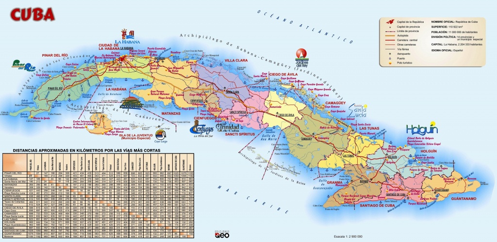 Large Detailed Travel Map Of Cuba - Printable Map Of Cuba