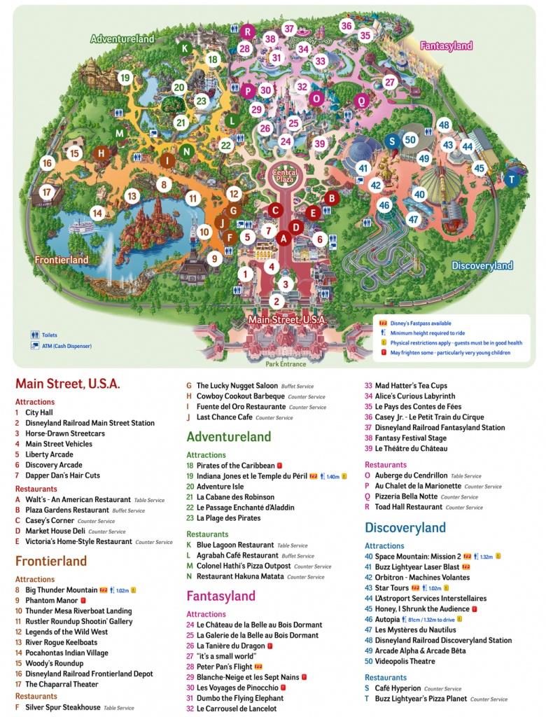 Large Disneyland Paris Maps For Free Download And Print | High - Disneyland Paris Map Printable