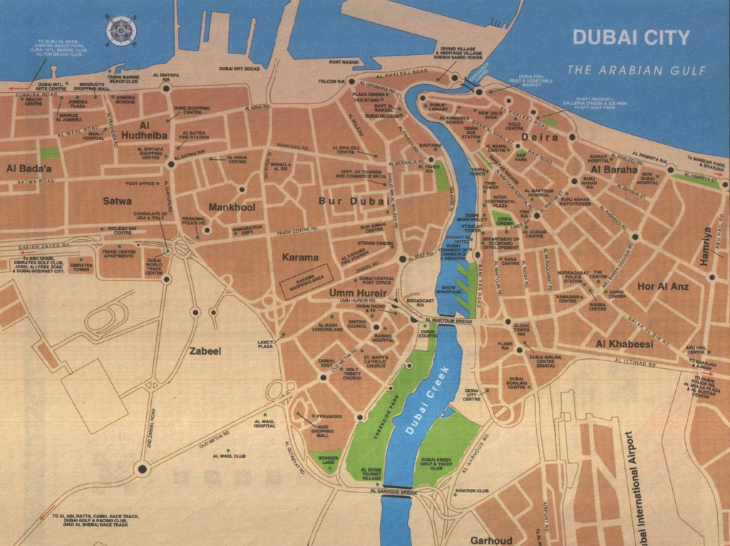 Large Dubai Maps For Free Download And Print   High-Resolution And - Printable Map Of Dubai