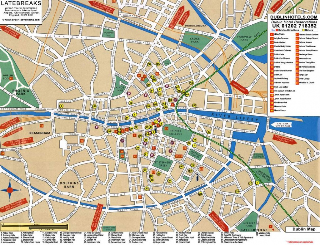 Large Dublin Maps For Free Download And Print   High-Resolution And - Dublin City Map Printable