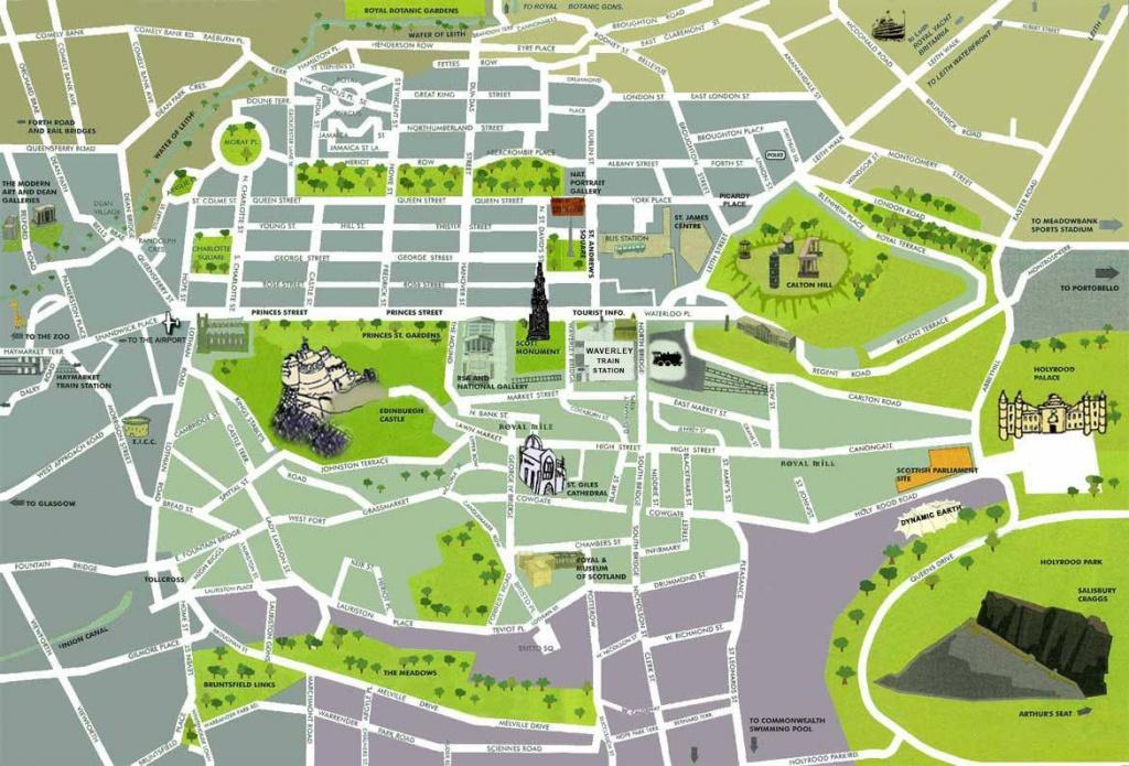 Large Edinburgh Maps For Free Download And Print   High-Resolution - Edinburgh Street Map Printable