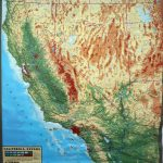 Large Extreme Raised Relief Map Of California And Nevada   California Raised Relief Map