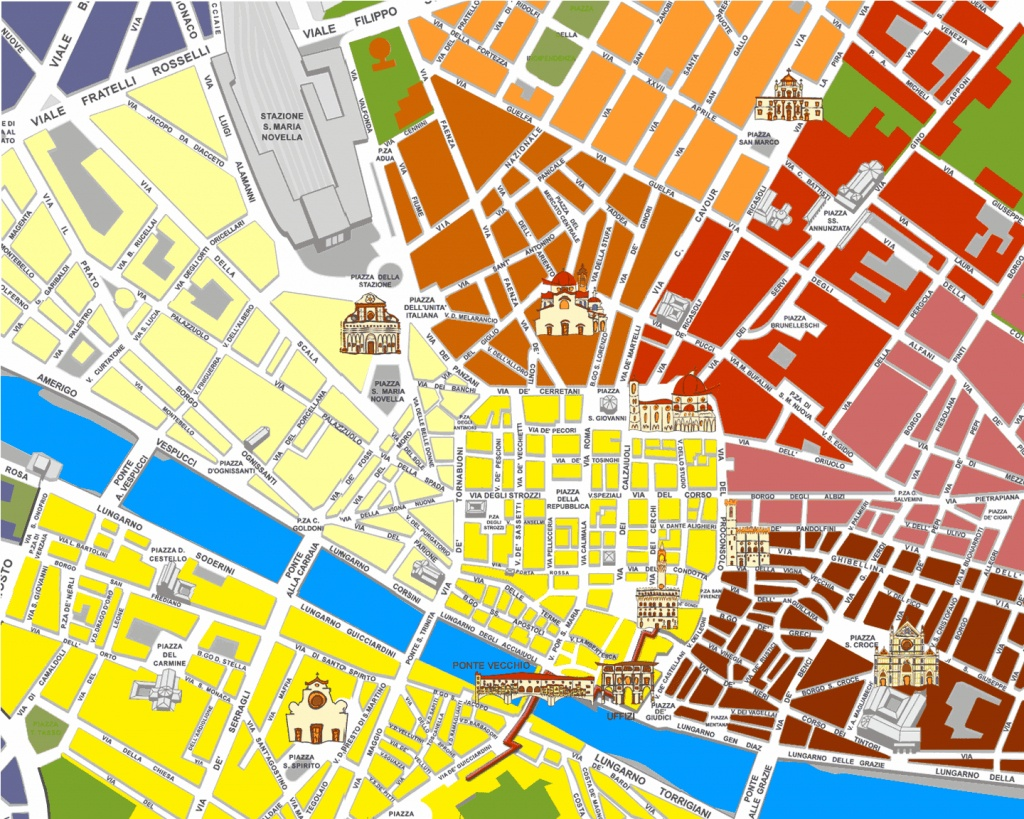 Large Florence Maps For Free Download And Print   High-Resolution - Florence City Map Printable