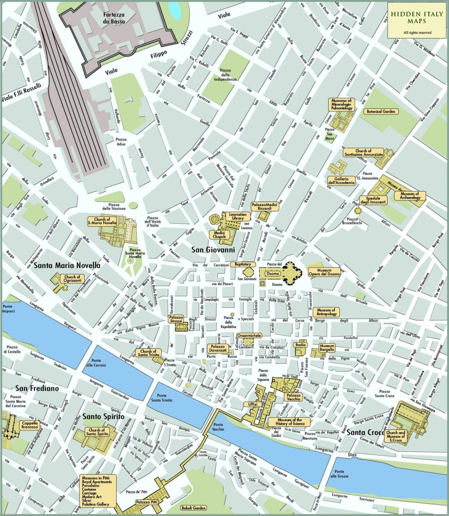 Large Florence Maps For Free Download And Print | High-Resolution - Tourist Map Of Florence Italy Printable