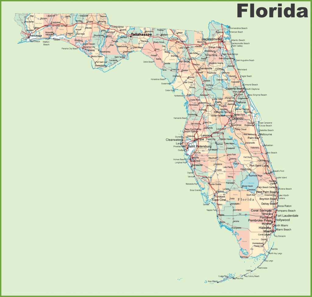 Large Florida Maps For Free Download And Print | High-Resolution And - Florida City Map Outline