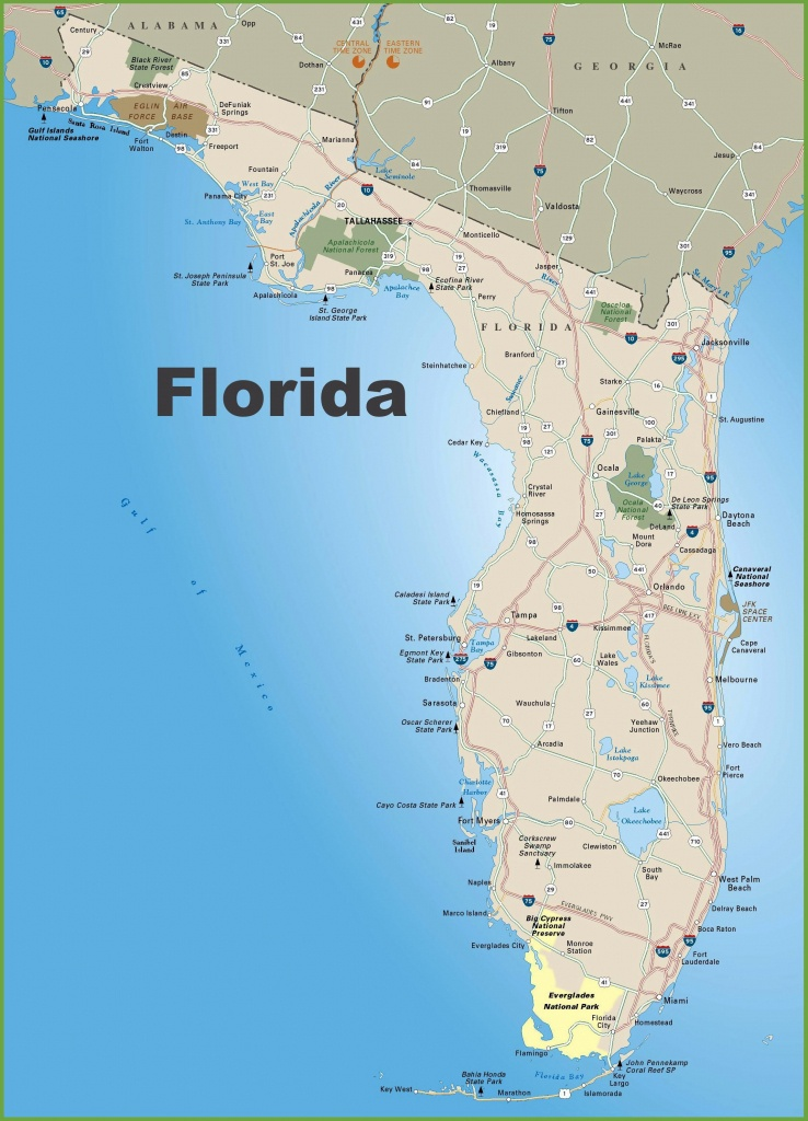 Large Florida Maps For Free Download And Print | High-Resolution And - Map Of Florida Beaches