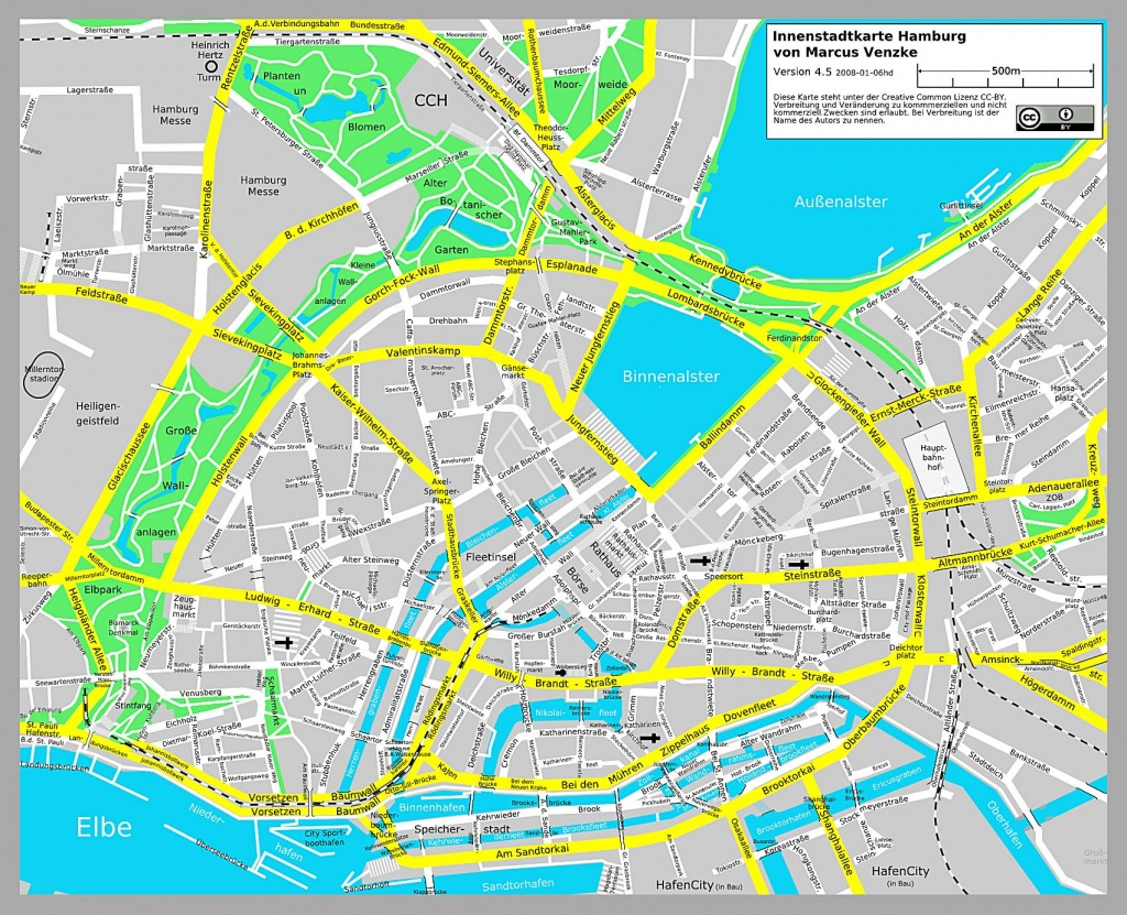 Large Hamburg Maps For Free Download And Print | High-Resolution And - Printable Map Of Hamburg