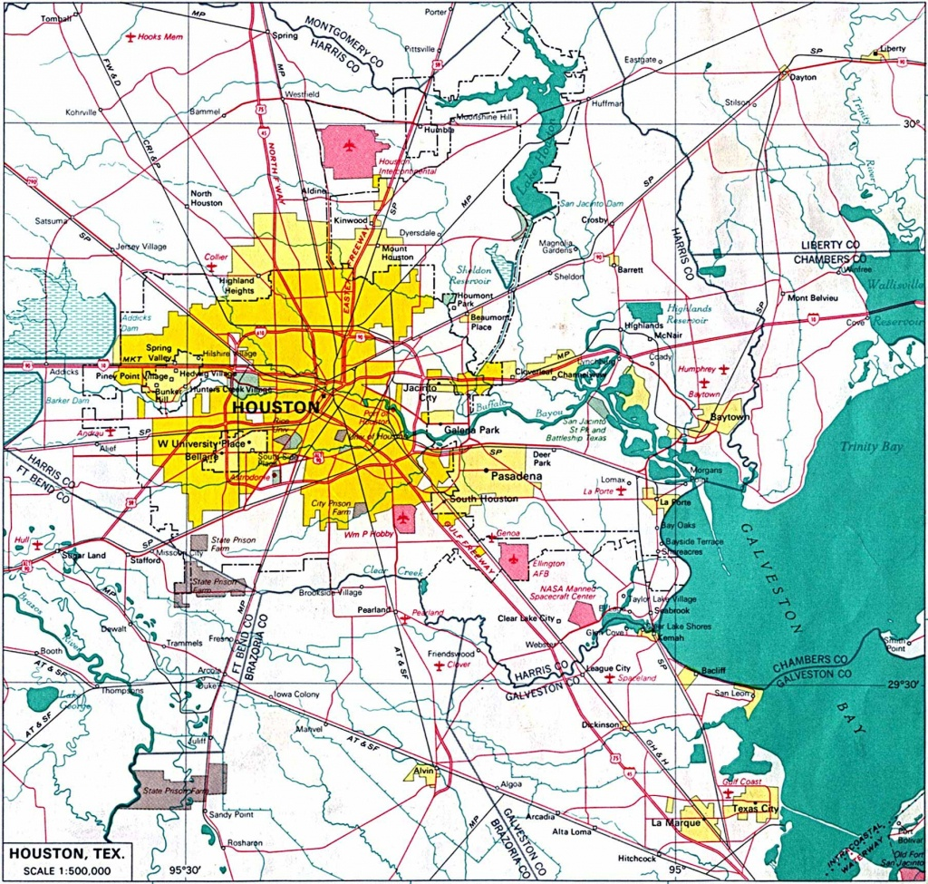 Large Houston Maps For Free Download And Print   High-Resolution And - Downtown Houston Map Printable