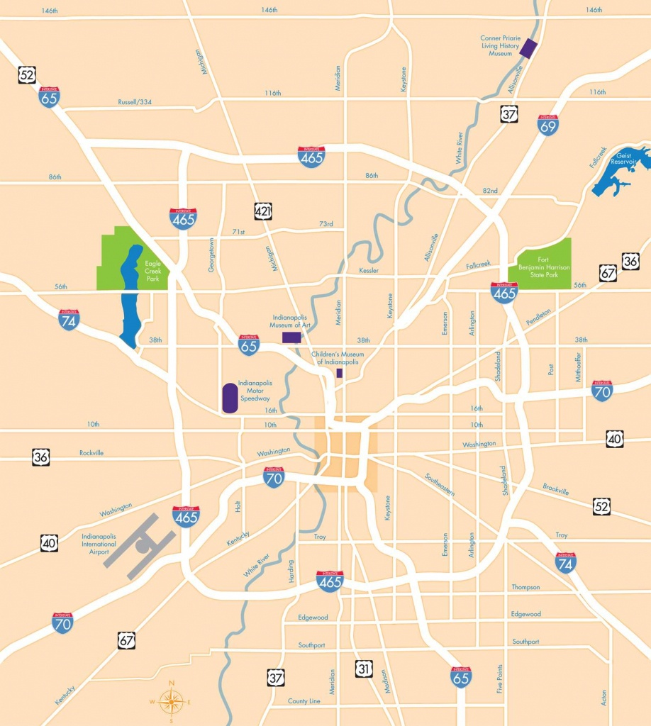 Large Indianapolis Maps For Free Download And Print   High - Printable Map Of Indianapolis
