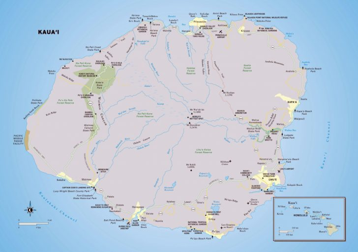 Printable Road Map Of Kauai
