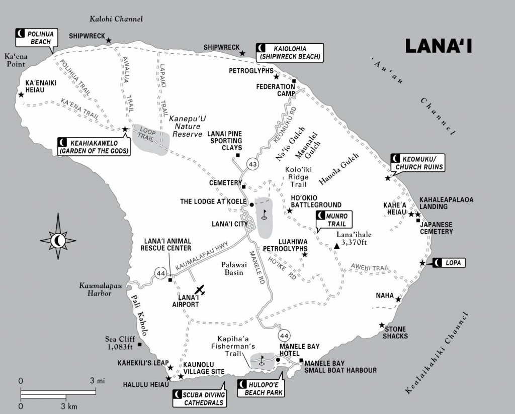 Large Lanai Maps For Free Download And Print | High-Resolution And - Printable Map Of Kauai