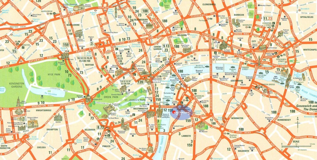 Large London Maps For Free Download And Print | High-Resolution And - London Tourist Map Printable