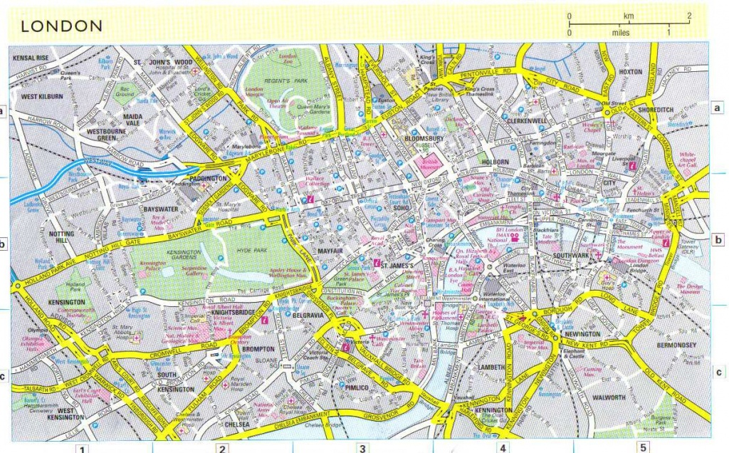 Large London Maps For Free Download And Print | High-Resolution And - Printable Children's Map Of London