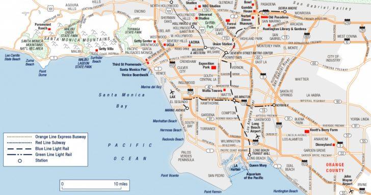 Printable Map Of Los Angeles