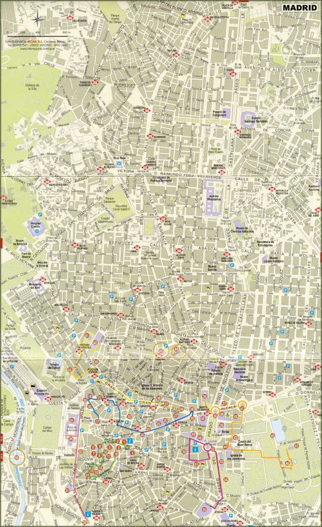 Large Madrid Maps For Free Download And Print   High-Resolution And - Madrid City Map Printable