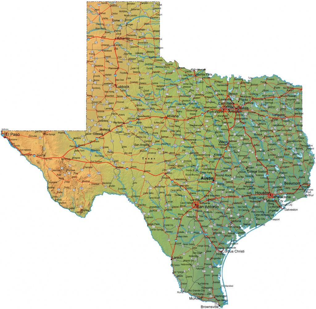 Large Map Of Texas | Woestenhoeve - Large Texas Map