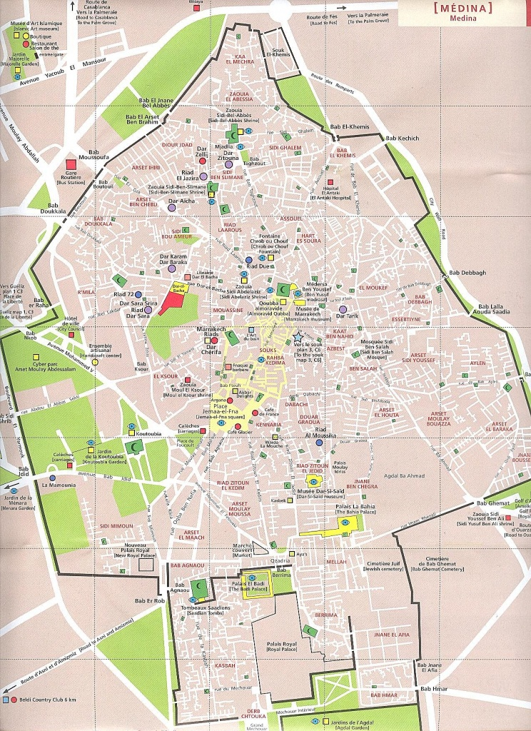 Large Marrakech Maps For Free Download And Print | High-Resolution - Marrakech Tourist Map Printable