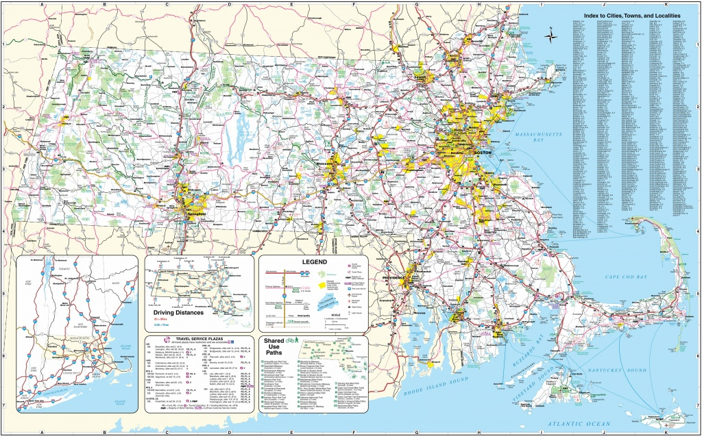 Large Massachusetts Maps For Free Download And Print | High - Printable Map Of Massachusetts Towns