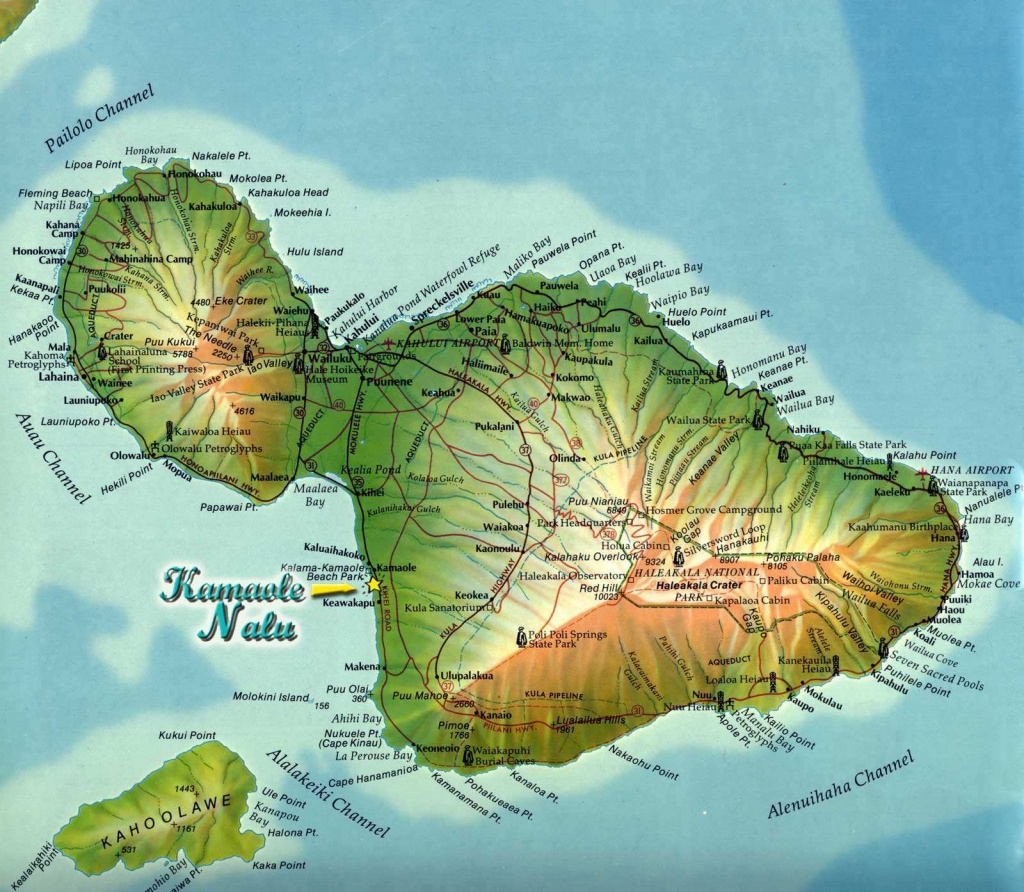 Large Maui Maps For Free Download And Print   High-Resolution And - Maui Road Map Printable