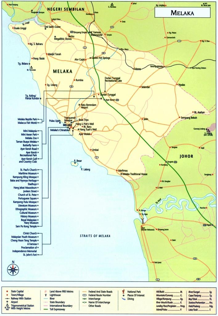 Large Melaka Maps For Free Download And Print | High-Resolution And - Melaka Tourist Map Printable