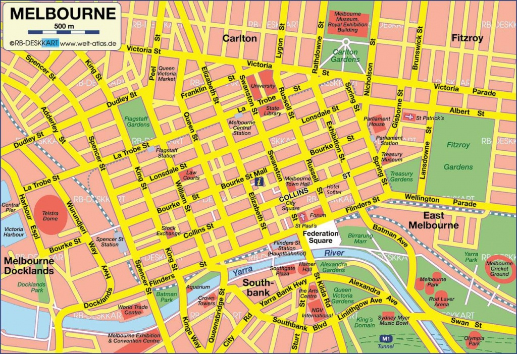 Large Melbourne Maps For Free Download And Print | High-Resolution - Printable Map Of Melbourne