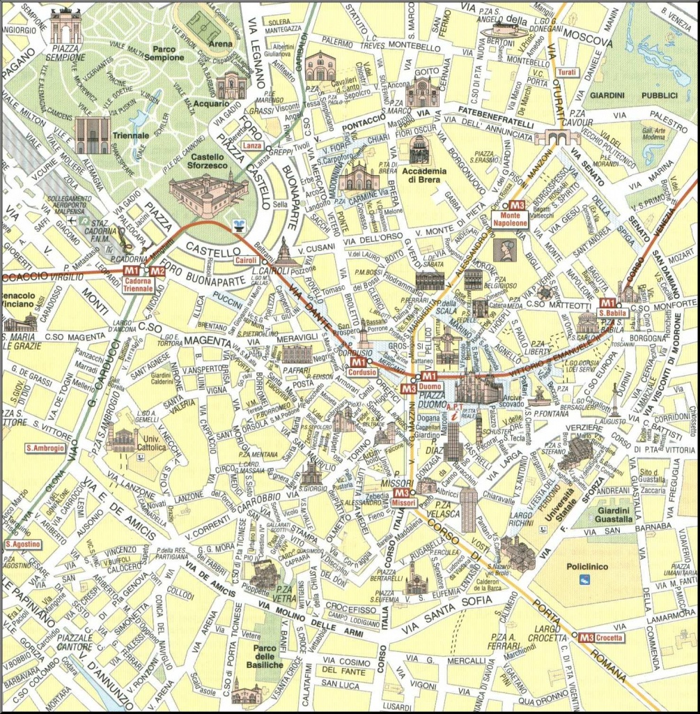 Large Milan Maps For Free Download And Print   High-Resolution And - Printable Map Of Milan
