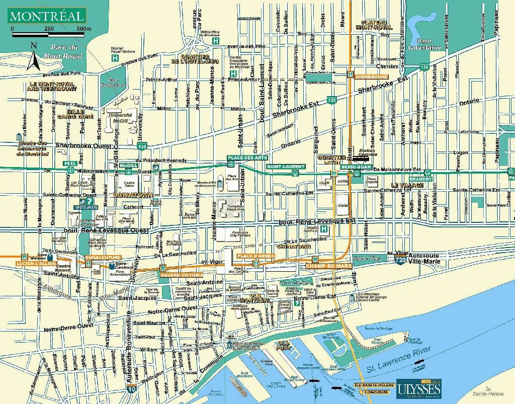 Large Montreal Maps For Free Download And Print | High-Resolution - Montreal Metro Map Printable