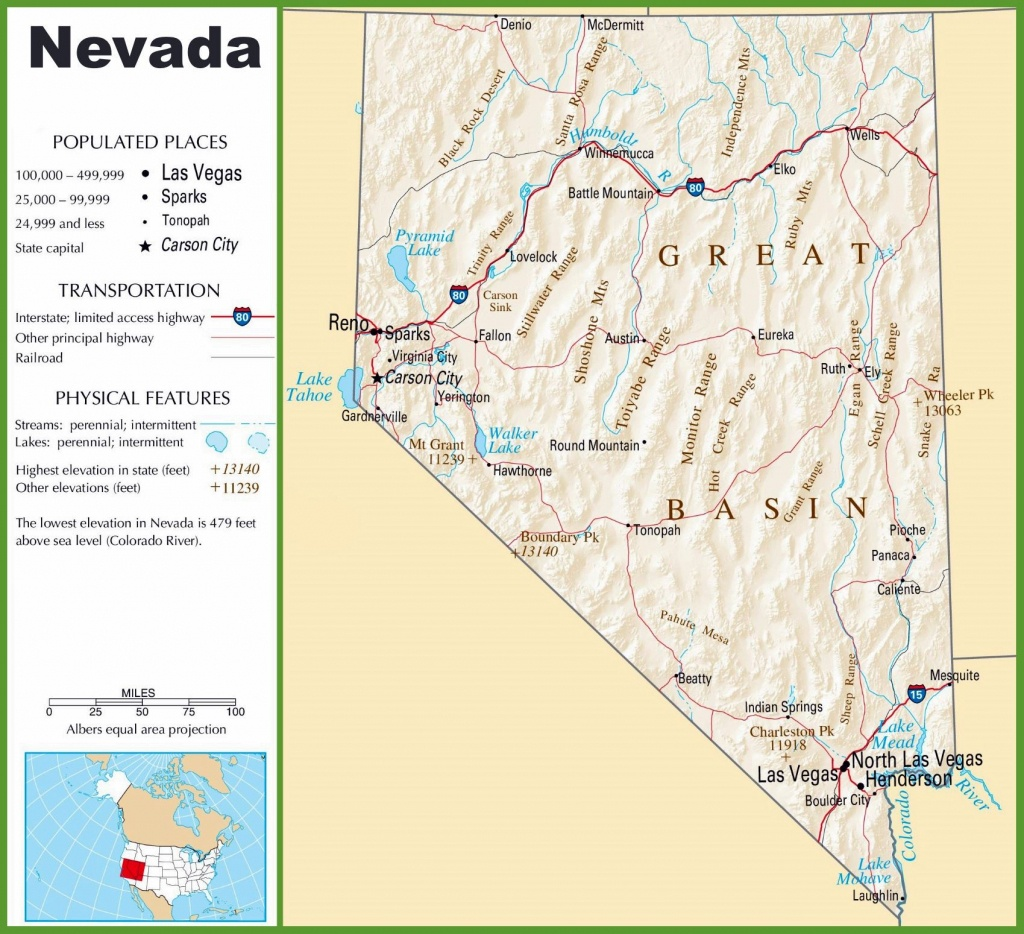 Large Nevada Maps For Free Download And Print | High-Resolution And - Printable Map Of Nevada