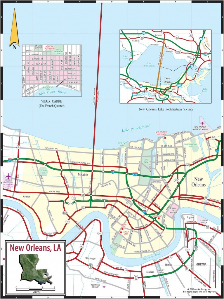 Large New Orleans Maps For Free Download And Print | High-Resolution - Printable Map Of New Orleans