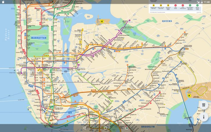 Printable New York Subway Map
