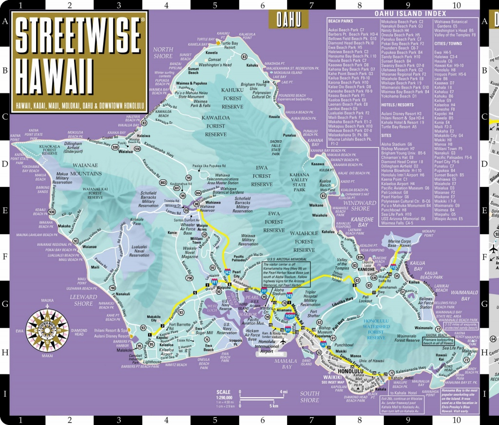 Large Oahu Island Maps For Free Download And Print   High-Resolution - Printable Map Of Oahu Attractions