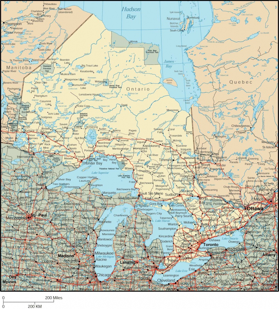Large Ontario Town Maps For Free Download And Print   High - Free Printable Map Of Ontario