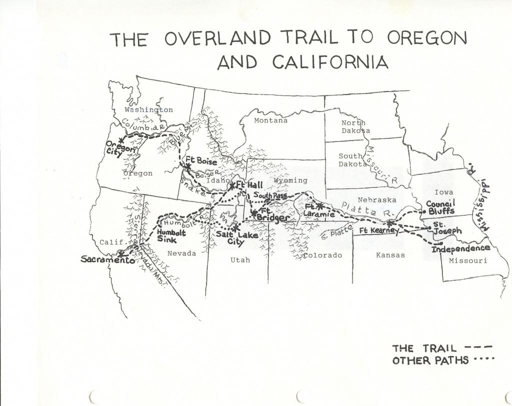 Large Oregon Trail Map | Oregon | Oregon Trail, Teaching History - Printable Map Of The Oregon Trail