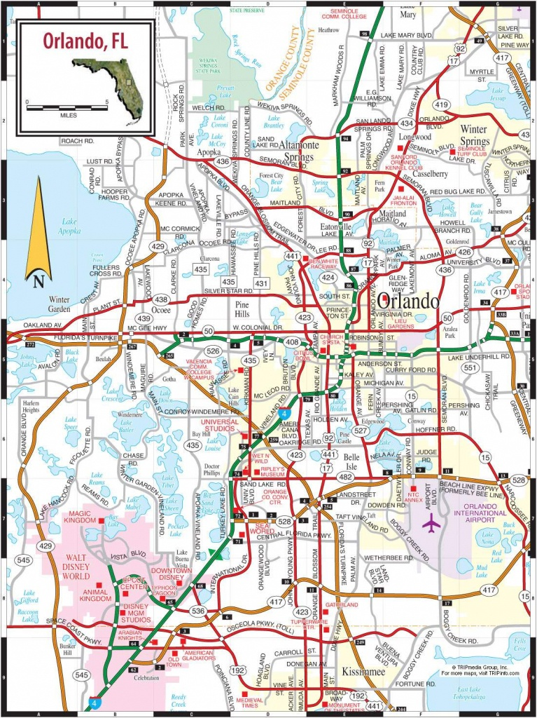 Large Orlando Maps For Free Download And Print   High-Resolution And - Detailed Map Of Orlando Florida