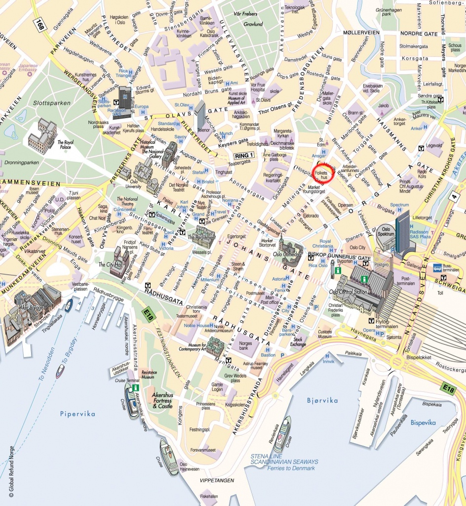 Large Oslo Maps For Free Download And Print   High-Resolution And - Oslo Map Printable