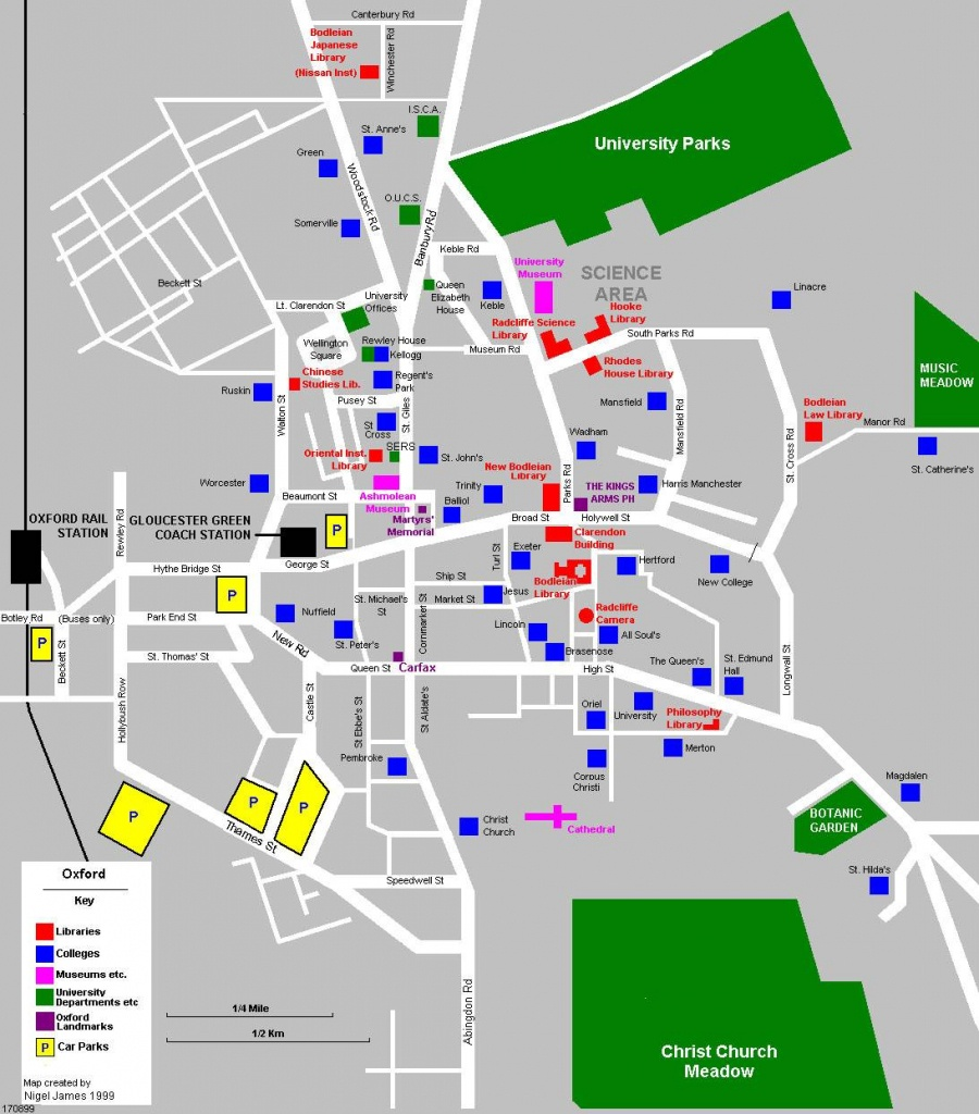 Large Oxford Maps For Free Download And Print   High-Resolution And - Oxford Tourist Map Printable