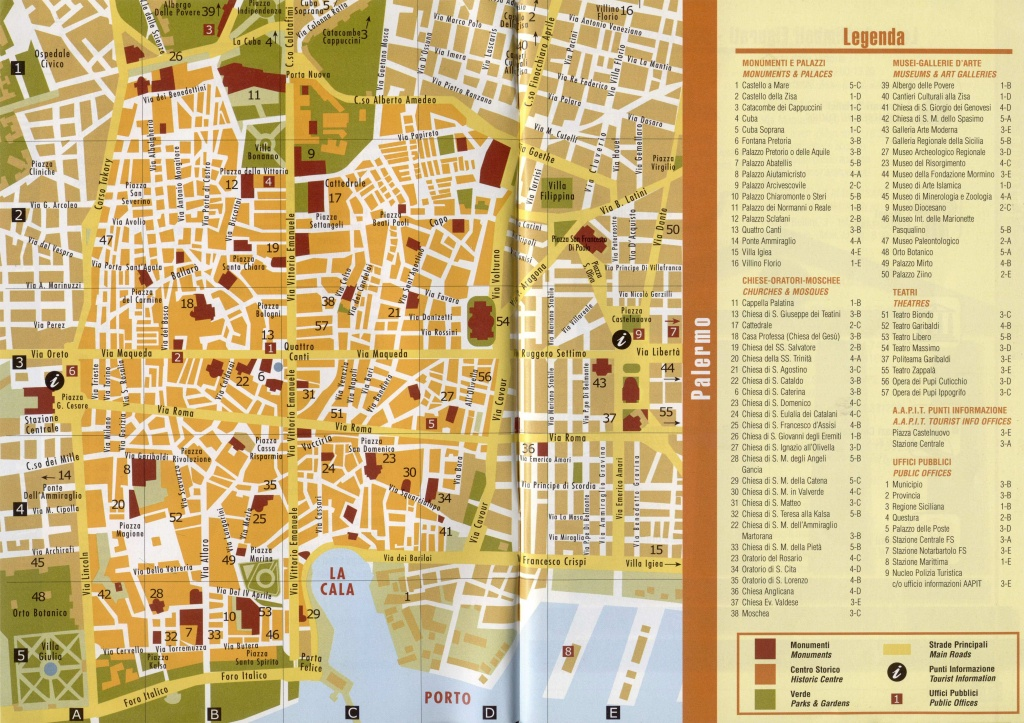 Large Palermo Maps For Free Download And Print | High-Resolution And - Printable Map Of Bologna City Centre
