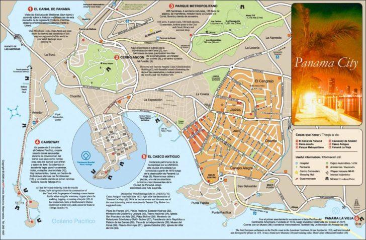 Printable Map Of Panama