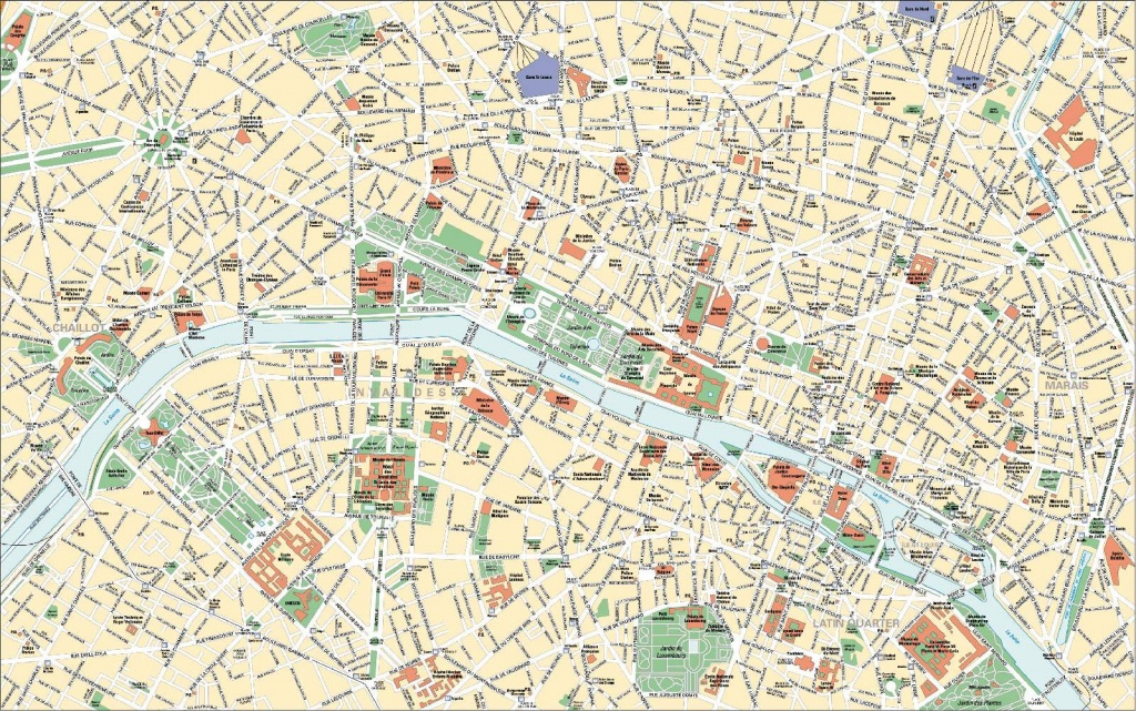 Large Paris Maps For Free Download And Print | High-Resolution And - Free Printable Map Of Paris