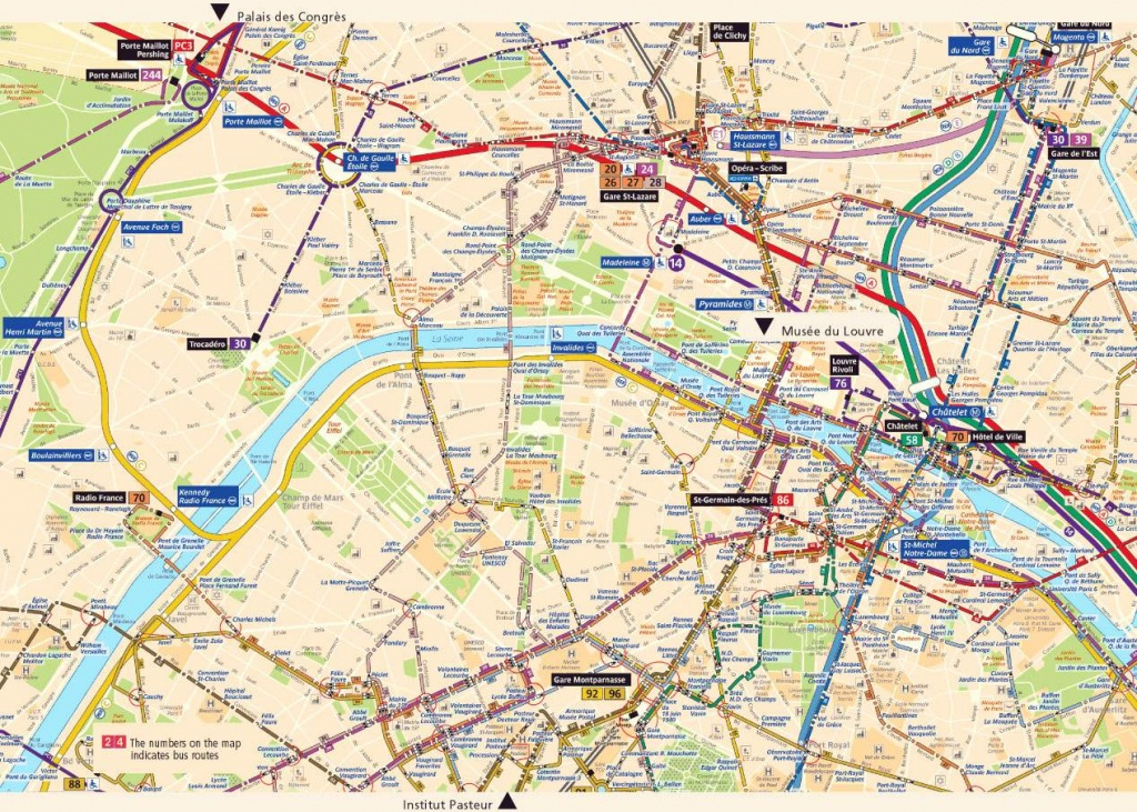 Large Paris Maps For Free Download And Print | High-Resolution And - Printable Map Of Paris