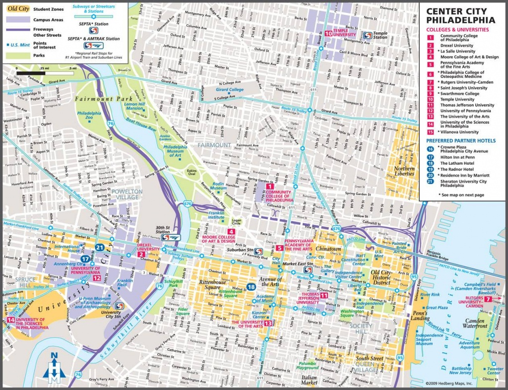 Large Philadelphia Maps For Free Download And Print | High - Printable Map Of Philadelphia Attractions