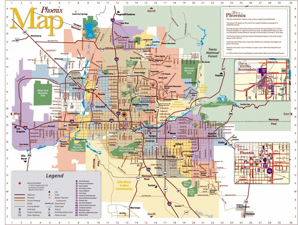 Large Phoenix Maps For Free Download And Print   High-Resolution And - Phoenix Area Map Printable