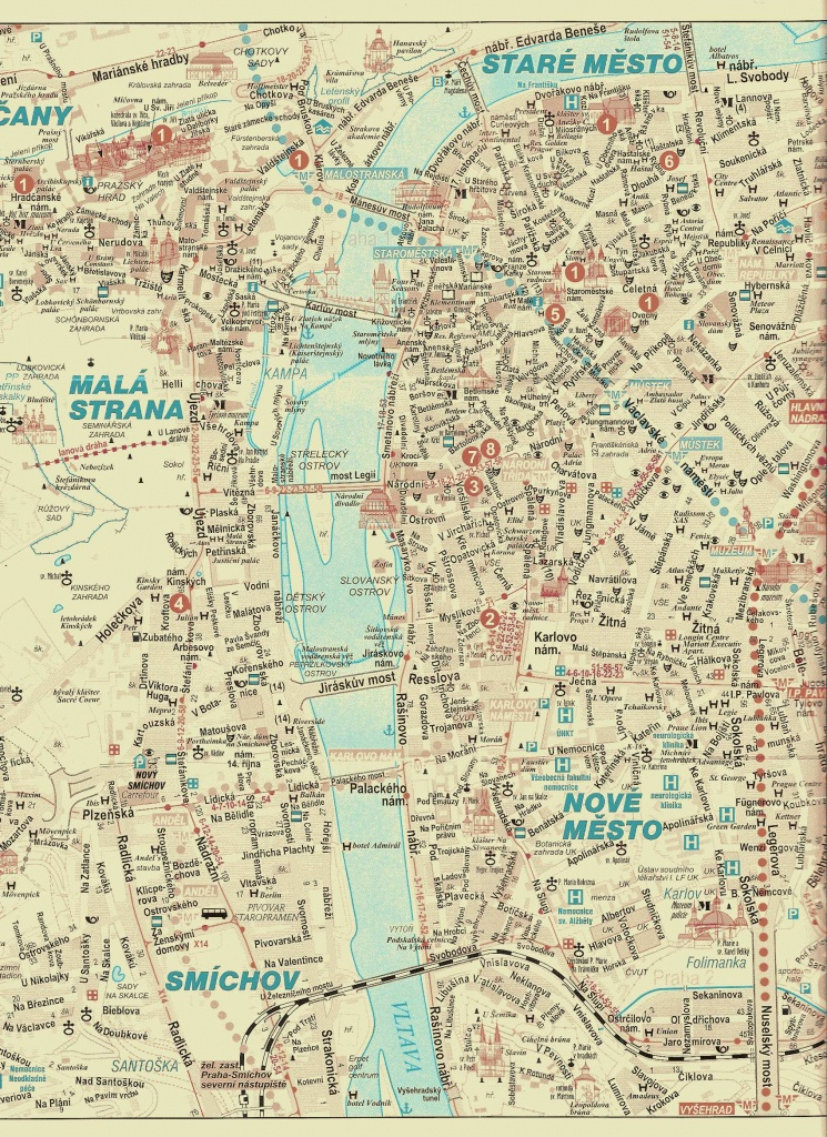 Large Prague Maps For Free Download And Print | High-Resolution And - Printable Map Of Prague City Centre