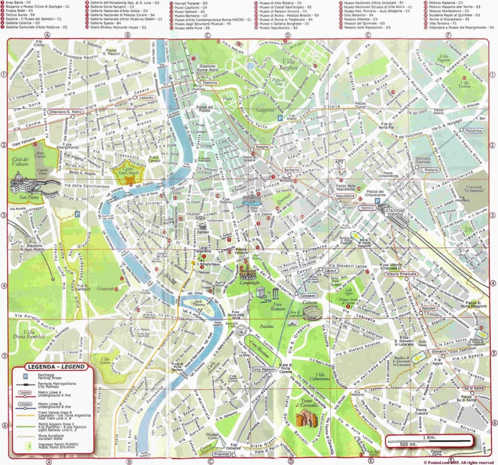 Large Rome Maps For Free Download And Print | High-Resolution And - Street Map Rome City Centre Printable