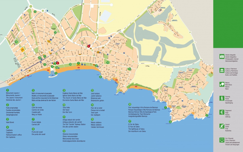 Large Salou Maps For Free Download And Print | High-Resolution And - Printable Street Map Of Nerja Spain