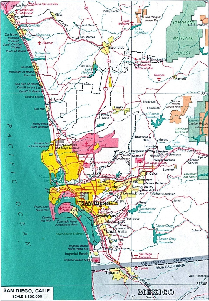 Large San Diego Maps For Free Download And Print | High-Resolution - Printable Map Of San Diego County